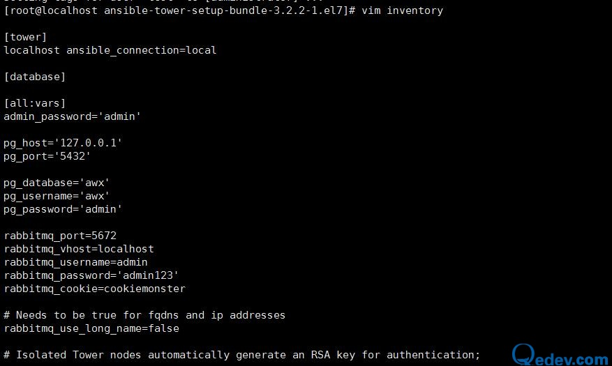 Linux之centos 7  安装 ansible Tower